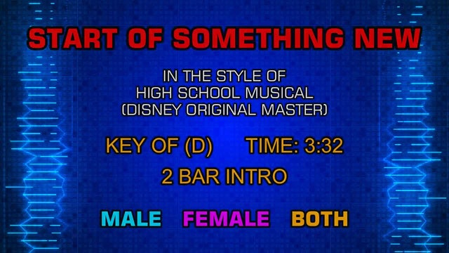 High School Musical (Disney Original Master) - Start of Something New