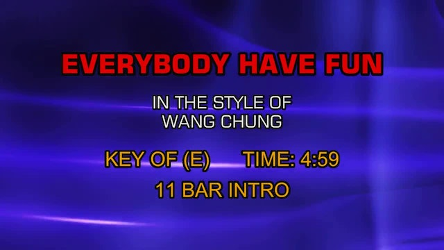 Wang Chung - Everybody Have Fun