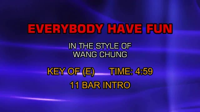 Wang Chung - Everybody Have Fun Tonight