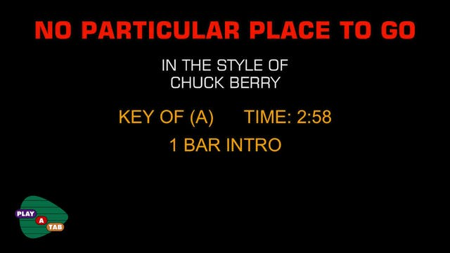 Chuck Berry - No Particular Place To ...
