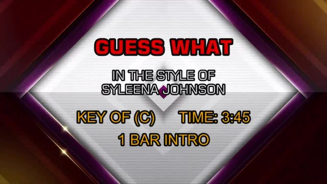 Syleena Johnson - Guess What