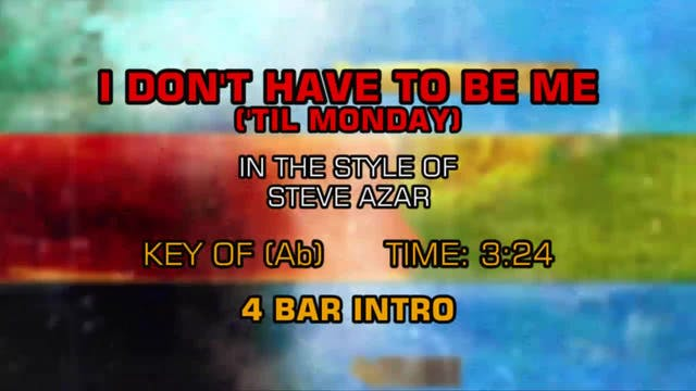 Steve Azar - I Don't Have To Be Me ('...