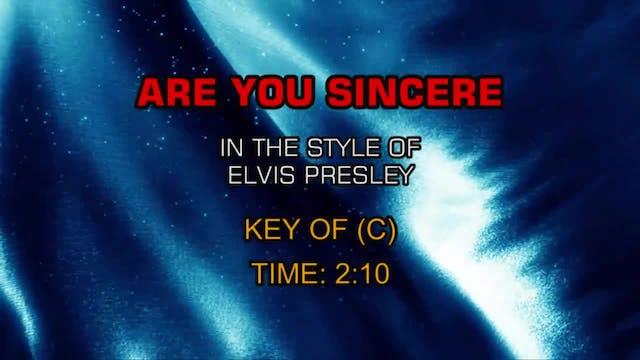 Elvis Presley - Are You Sincere