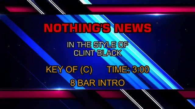 Clint Black - Nothing's News
