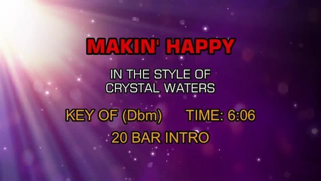 Crystal Waters - Makin' Happy