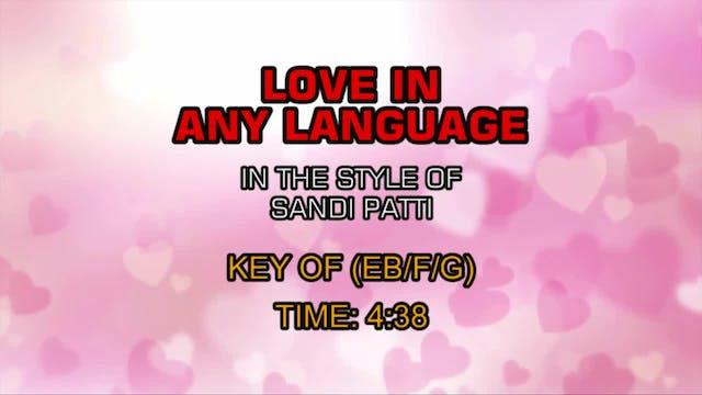 Sandi Patti - Love In Any Language