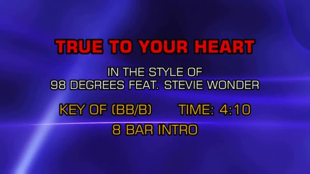 98 Degrees w/ Stevie Wonder - True To Your Heart