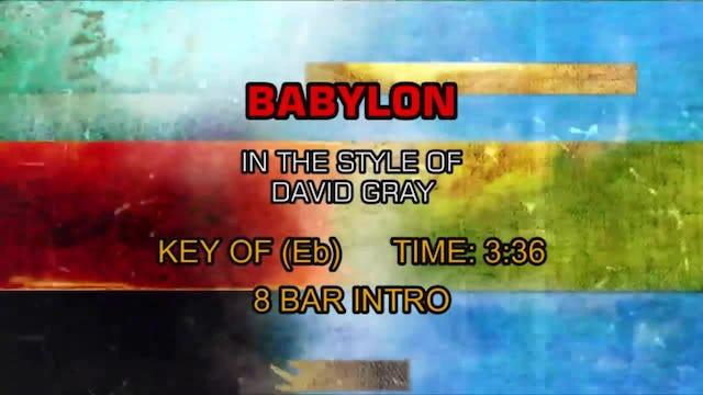 David Gray - Babylon
