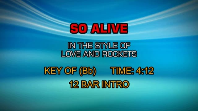 Love & Rockets - So Alive