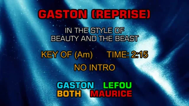 Beauty And The Beast - Gaston (Reprise)