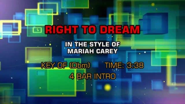 Mariah Carey - Right To Dream