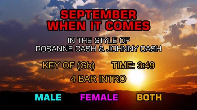 Rosanne Cash (feat. Johnny Cash) - September When It Comes