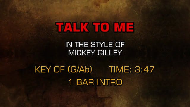 Mickey Gilley - Talk To Me
