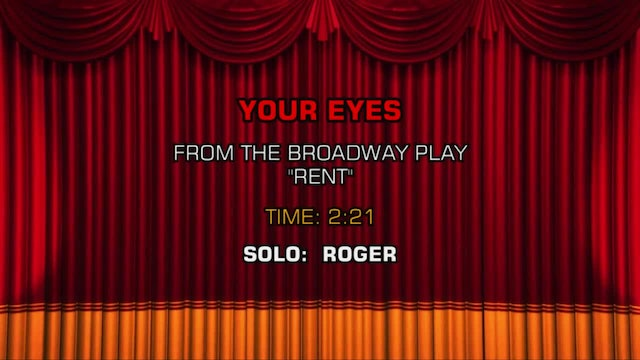 Songs From Rent - Your Eyes