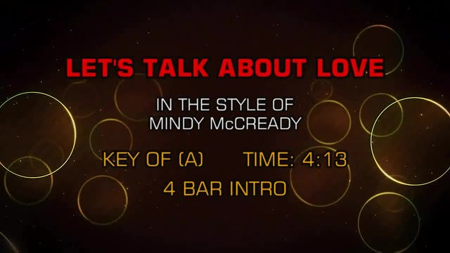 Mindy McCready - Let's Talk About Love
