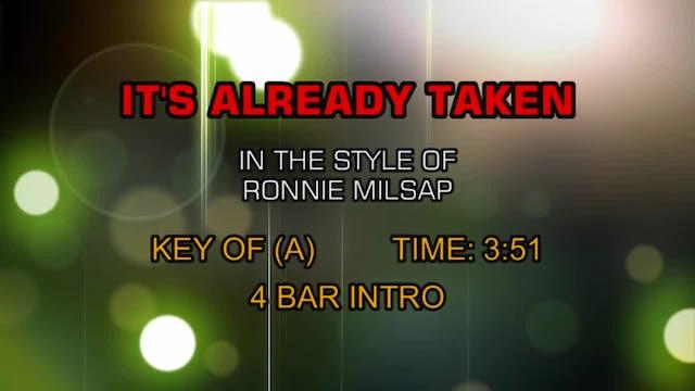 Ronnie Milsap - It's Already Taken