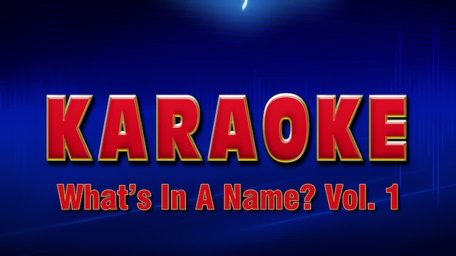 Lightning Round Karaoke - What's In A Name Vol. 1