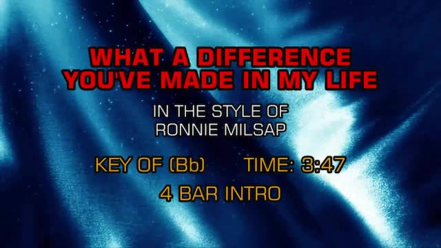 Ronnie Milsap - What A Difference You...