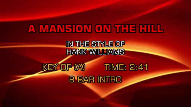 Hank Williams - Mansion On The Hill