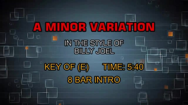 Billy Joel - A Minor Variation