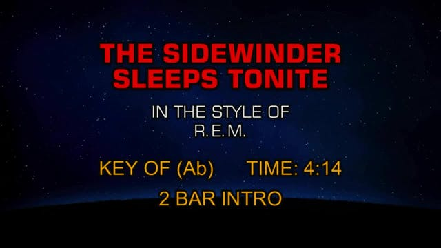 R.E.M. - The Sidewinder Sleeps Tonite