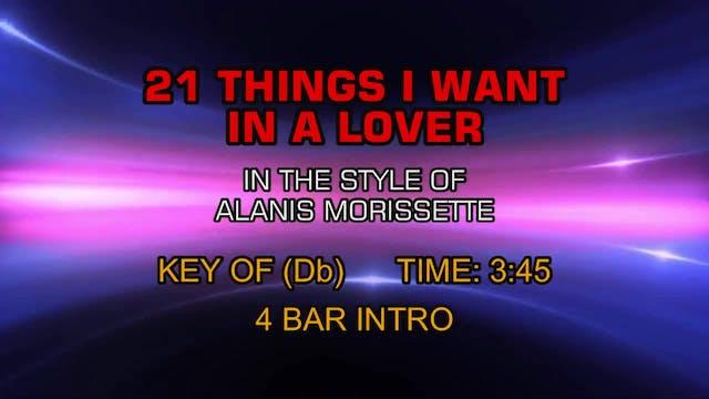 Alanis Morissette - 21 Things I Want ...