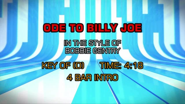 Bobbie Gentry -Ode To Billy Joe