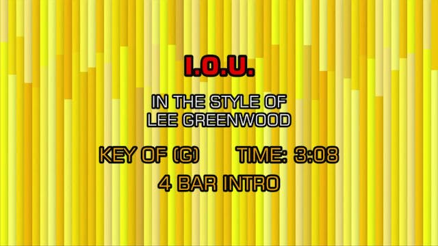 Lee Greenwood - I. O. U.