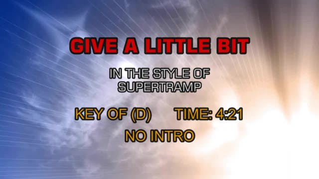 Supertramp - Give A Little Bit