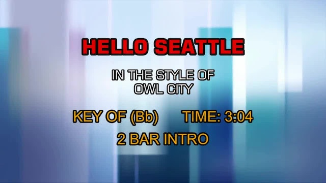 Owl City - Hello Seattle