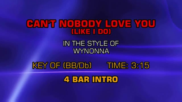 Wynonna - Can't Nobody Love You (Like...