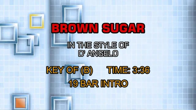 D' Angelo - Brown Sugar