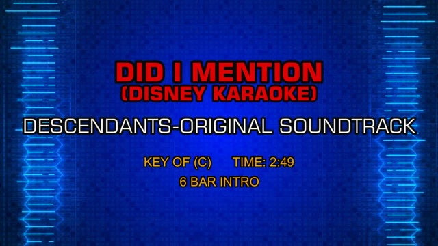Descendants-Original Soundtrack - Did I Mention