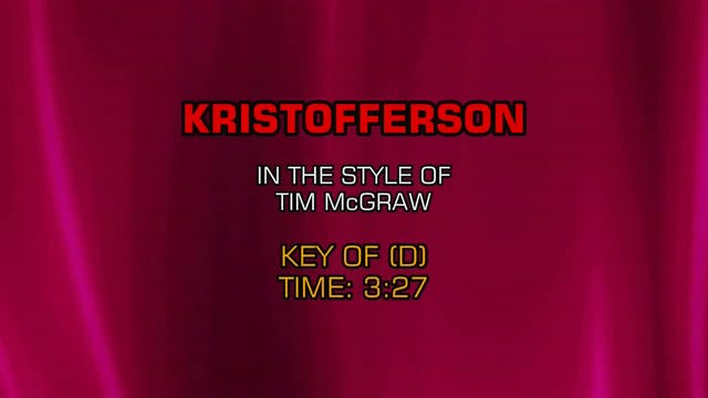 Tim McGraw - Kristofferson