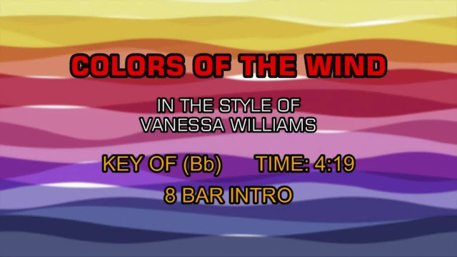 Vanessa Williams - Colors Of The Wind