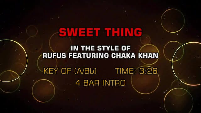 Rufus And Chaka Kahn - Sweet Thing