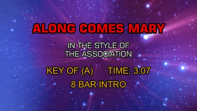 Association, The  - Along Comes Mary