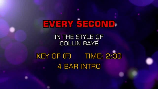 Collin Raye - Every Second