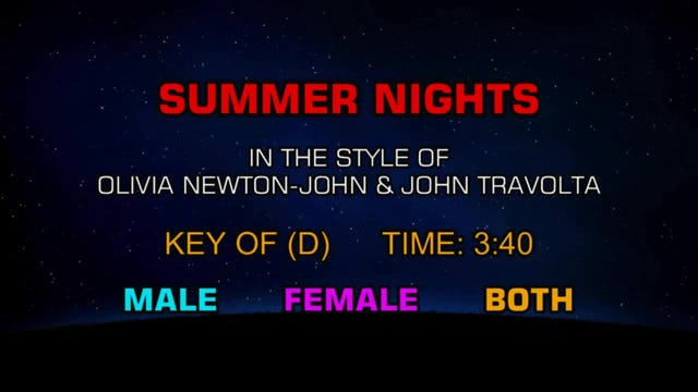 Olivia Newton-John & John Travolta - Summer Nights
