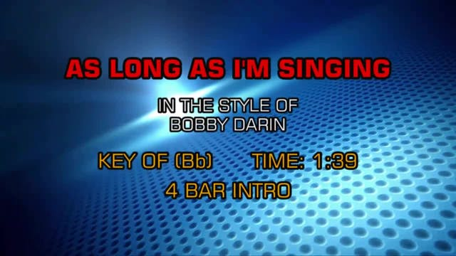 Bobby Darin - As Long As I'm Singing