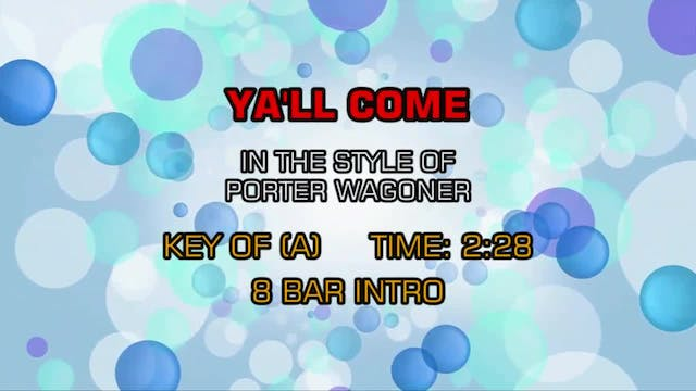 Porter Wagoner - Y'all Come