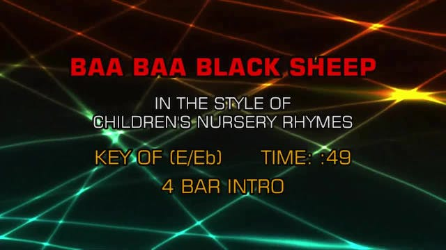 Children's Nursery Rhymes - Baa Baa B...