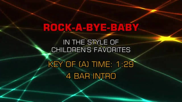 Children's Nursery Rhymes - Rock-A-By...