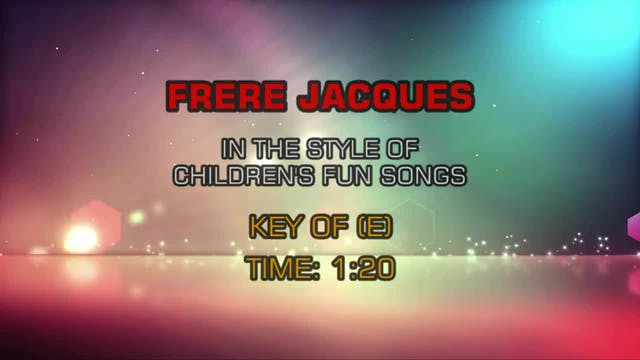 Children's Fun Songs - Frere Jaques