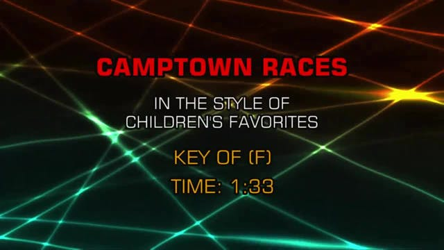 Children's Fun Songs - Camptown Races