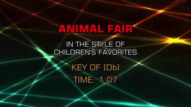 Children's Fun Songs - Animal Fair