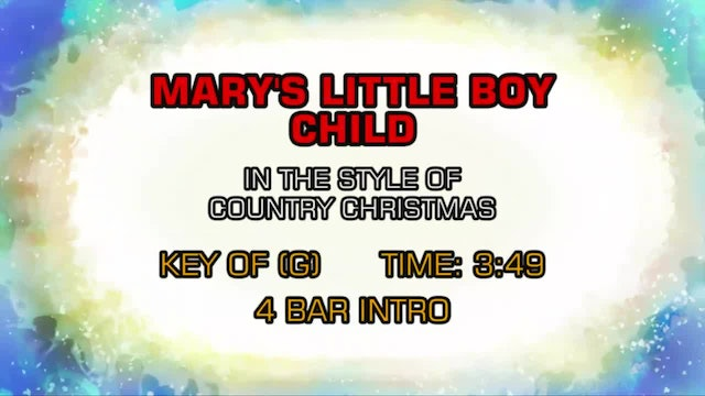 Country Christmas - Mary's Boy Child
