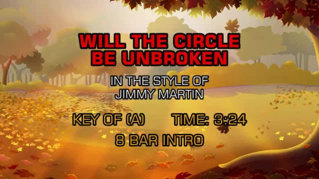 Jimmy Martin - Will The Circle Be Unbroken