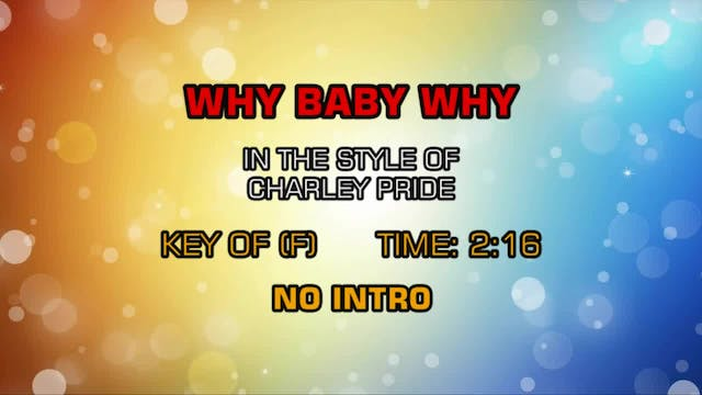 Charley Pride - Why Baby Why