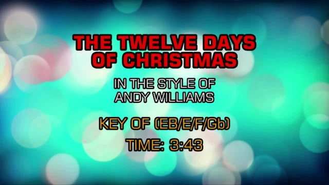 Andy Williams - The Twelve Days Of Christmas